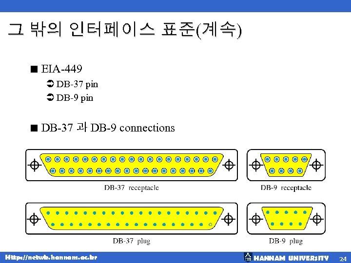 그 밖의 인터페이스 표준(계속) < EIA-449 Ü DB-37 pin Ü DB-9 pin < DB-37