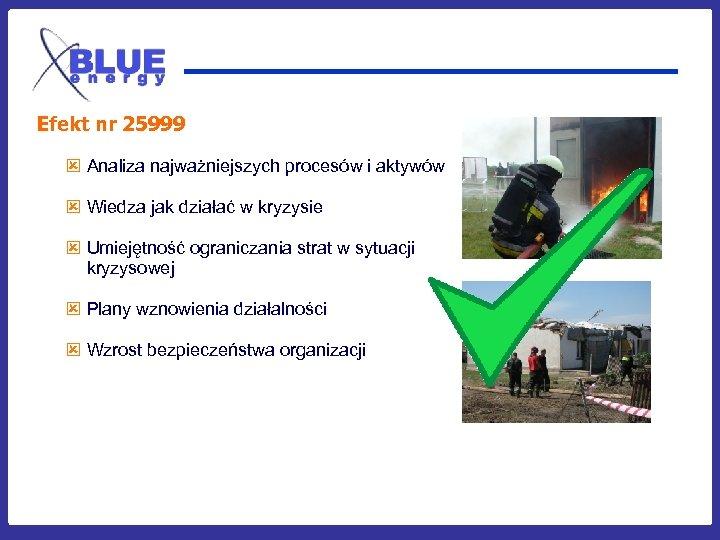 Efekt nr 25999 ý Analiza najważniejszych procesów i aktywów ý Wiedza jak działać w