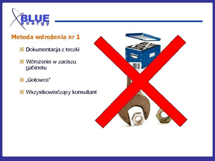 Metoda wdrożenia nr 1 ý Dokumentacja z teczki ý Wdrożenie w zaciszu gabinetu ý