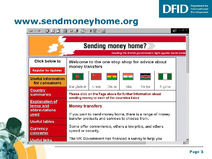 www. sendmoneyhome. org Page 3