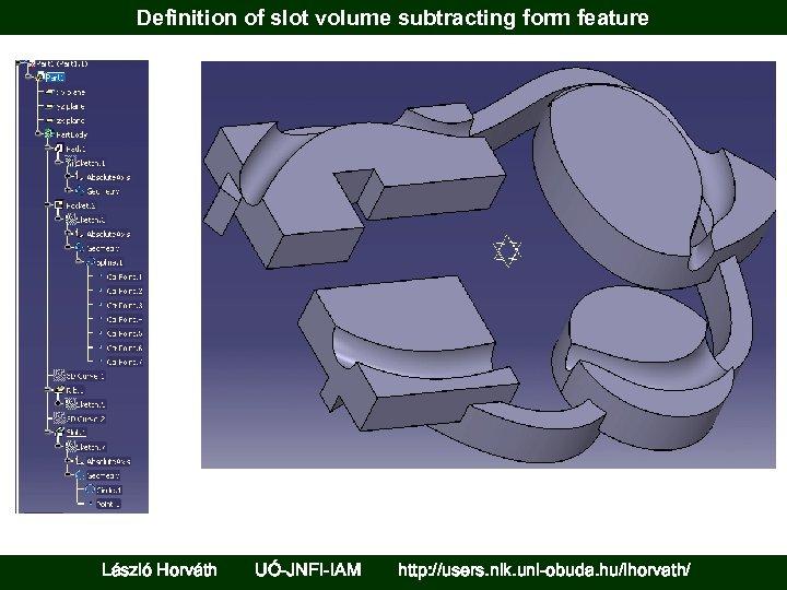 Definition of slot volume subtracting form feature László Horváth UÓ-JNFI-IAM http: //users. nik. uni-obuda.