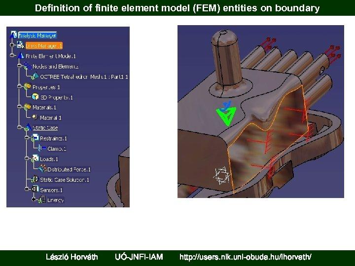 Definition of finite element model (FEM) entities on boundary László Horváth UÓ-JNFI-IAM http: //users.
