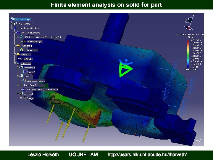 Finite element analysis on solid for part László Horváth UÓ-JNFI-IAM http: //users. nik. uni-obuda.