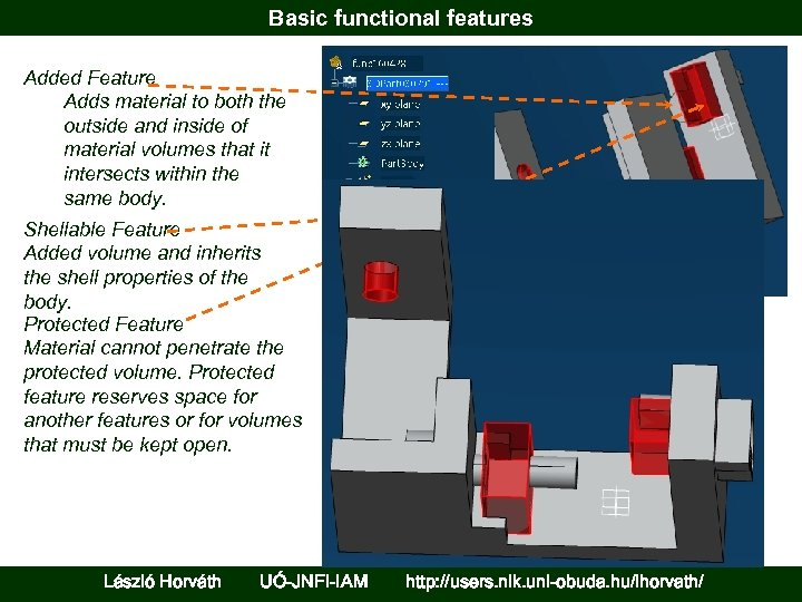 Basic functional features Added Feature Adds material to both the outside and inside of