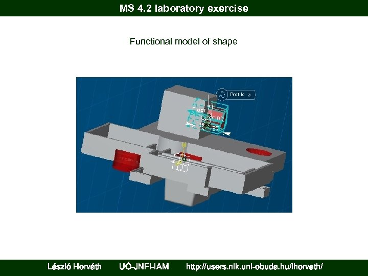 MS 4. 2 laboratory exercise Functional model of shape László Horváth UÓ-JNFI-IAM http: //users.