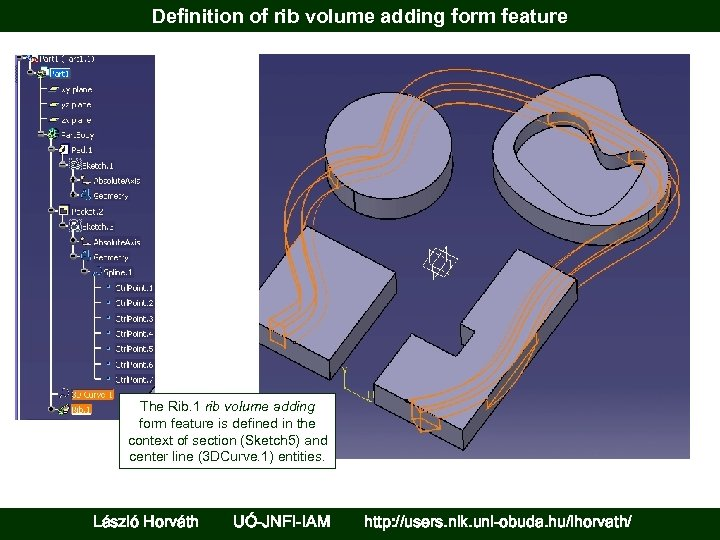 Definition of rib volume adding form feature The Rib. 1 rib volume adding form