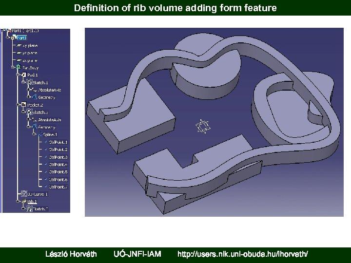 Definition of rib volume adding form feature László Horváth UÓ-JNFI-IAM http: //users. nik. uni-obuda.