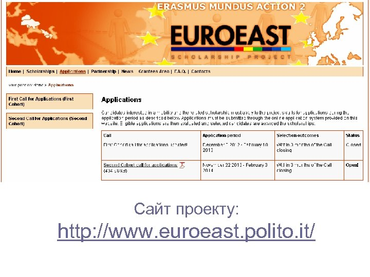 Сайт проекту: http: //www. euroeast. polito. it/