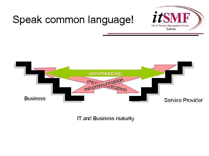 Speak common language! understanding micom ication mu un comm nication mi Business Service Provider