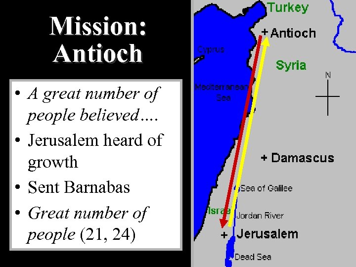 Mission: Antioch • A great number of people believed…. • Jerusalem heard of growth