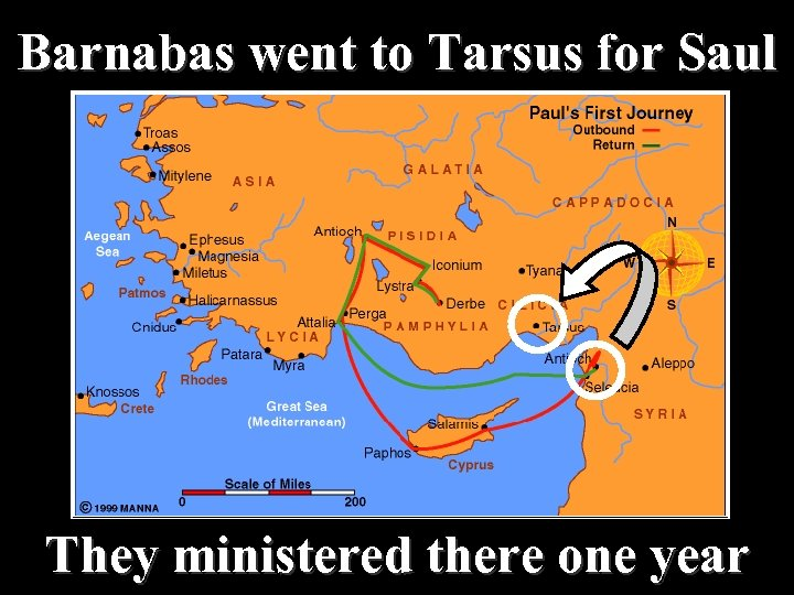 Barnabas went to Tarsus for Saul They ministered there one year