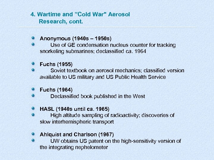 """4. Wartime and """"Cold War"""