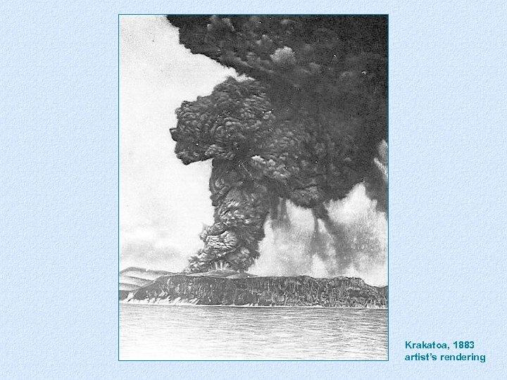 Krakatoa, 1883 artist's rendering Krakatoa