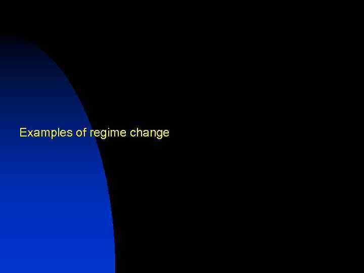 Examples of regime change