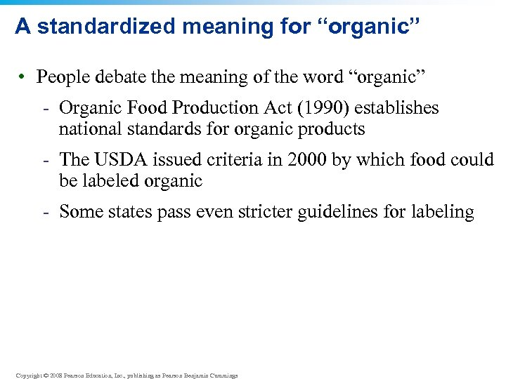 """A standardized meaning for """"organic"""" • People debate the meaning of the word """"organic"""""""