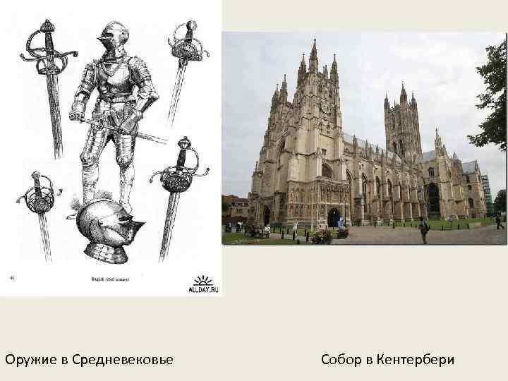 Оружие в Средневековье Собор в Кентербери