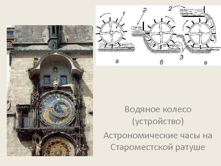 Водяное колесо (устройство) Астрономические часы на Староместской ратуше