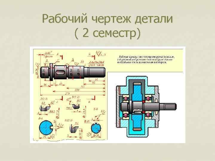 Рабочий чертеж детали ( 2 семестр)