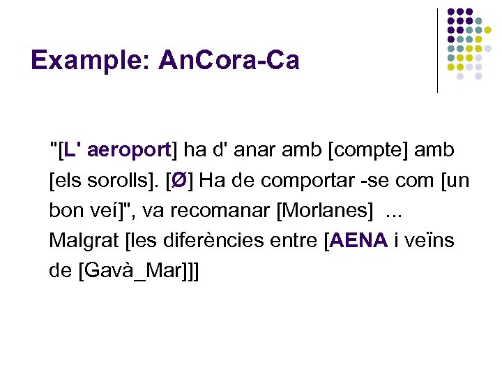 Example: An. Cora-Ca