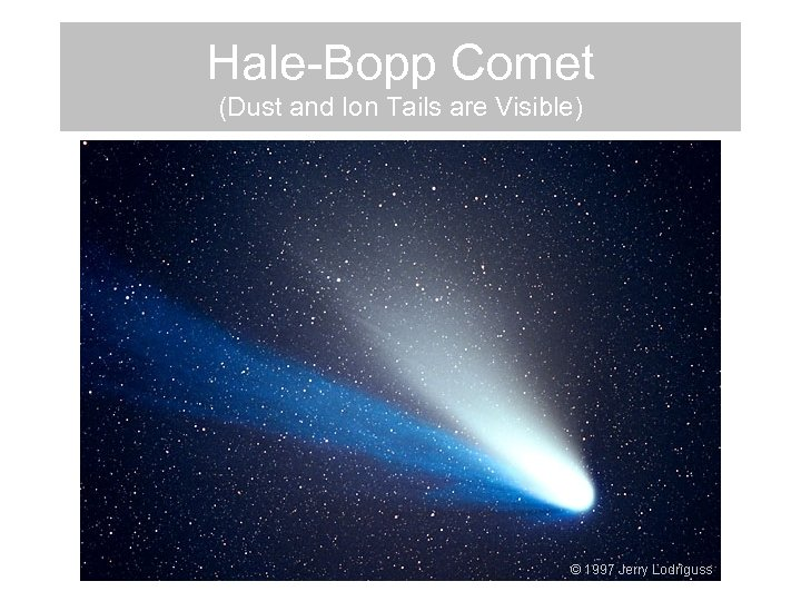 Hale-Bopp Comet (Dust and Ion Tails are Visible)