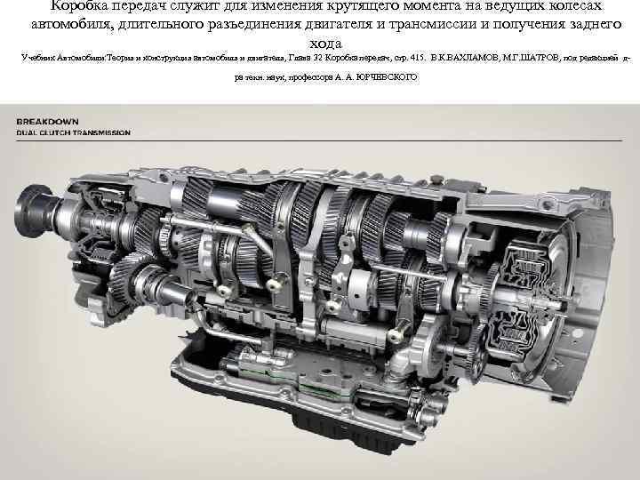 Коробка передач служит для изменения крутящего момента на ведущих колесах автомобиля, длительного разъединения двигателя