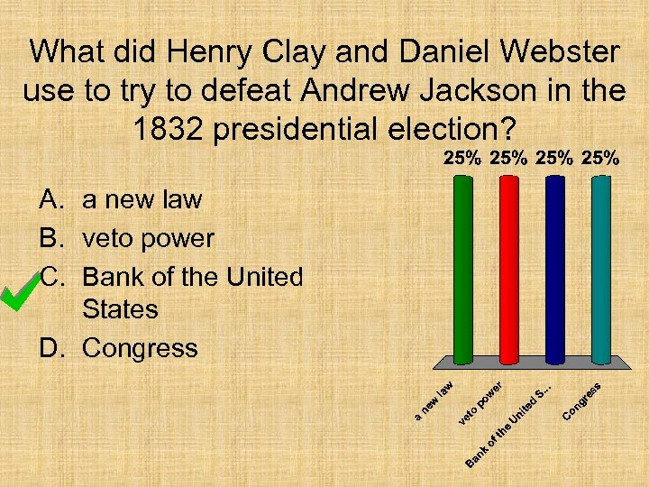 What did Henry Clay and Daniel Webster use to try to defeat Andrew Jackson
