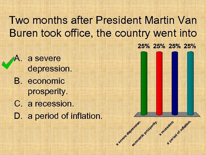 Two months after President Martin Van Buren took office, the country went into A.