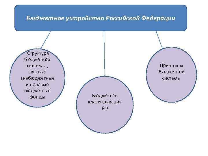 Бюджетное устройство Российской Федерации Структура бюджетной системы , включая внебюджетные и целевые бюджетные фонды
