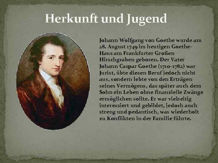 Johann Wolfgang Von Goethe Biografie Und Werke