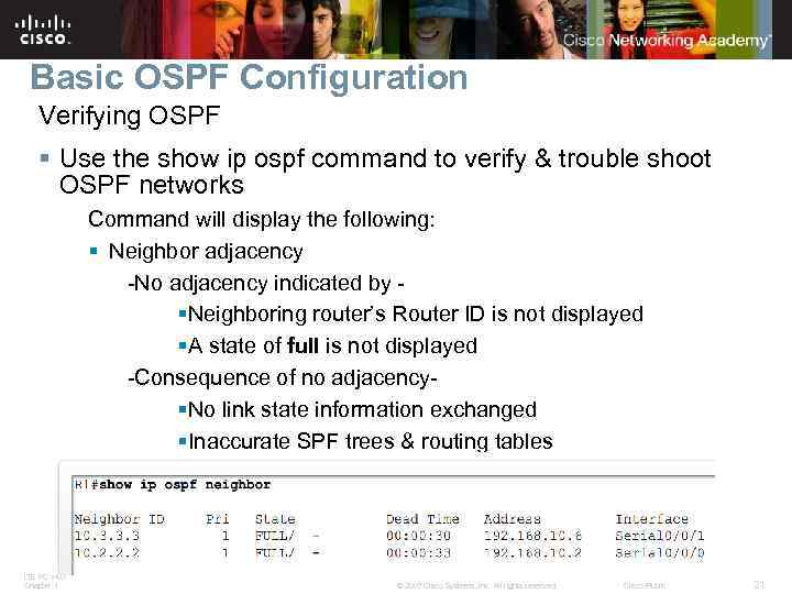 OSPF Routing Protocols and Concepts Chapter 11