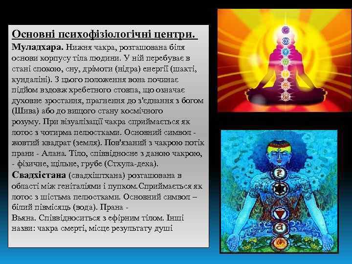 Основні психофізіологічні центри. Муладхара. Нижня чакра, розташована біля основи корпусу тіла людини. У ній