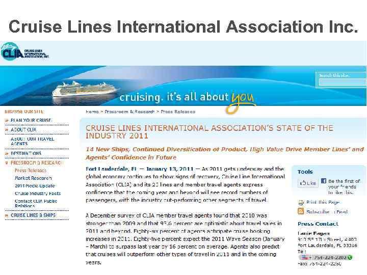 Cruise Lines International Association Inc.