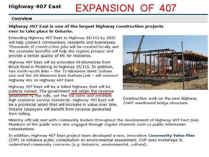 EXPANSION OF 407