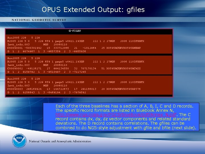 OPUS Extended Output: gfiles G-FILES Axx 2005 228 B 2005 228 5 0 5