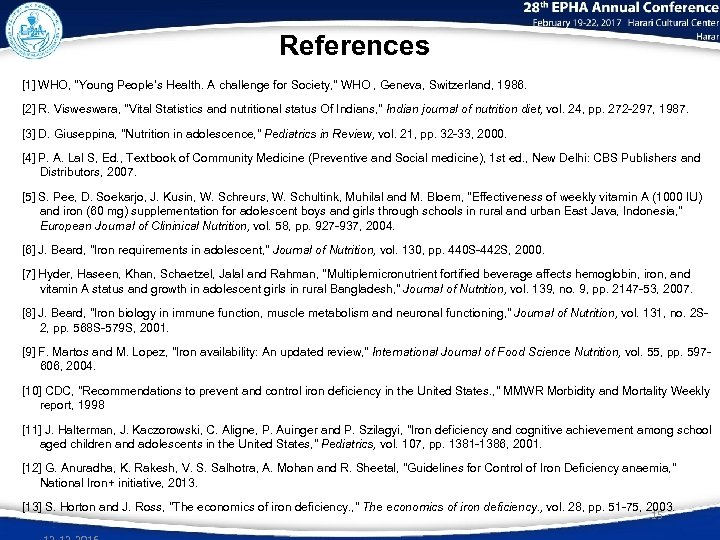 References [1] WHO,
