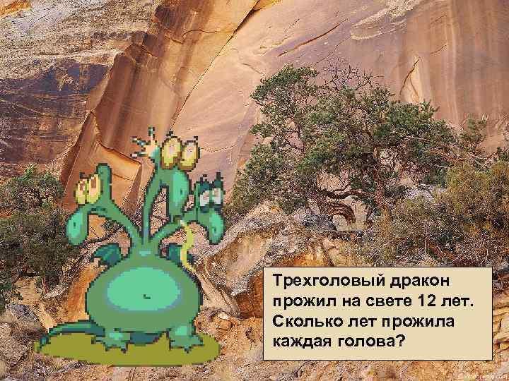 Трехголовый дракон прожил на свете 12 лет. Сколько лет прожила каждая голова?
