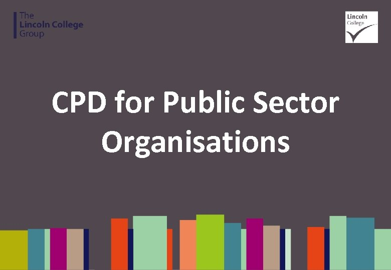 CPD for Public Sector Organisations