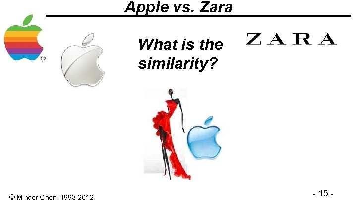 Apple vs. Zara What is the similarity? Jobs fostered an approach to product design