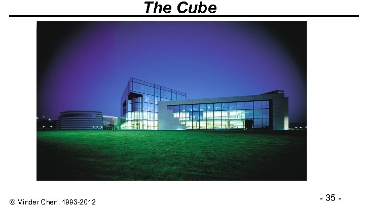 The Cube © Minder Chen, 1993 -2012 - 35 -