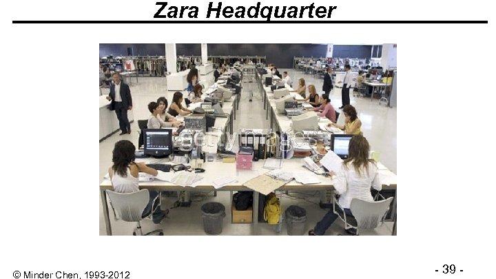 Zara Headquarter © Minder Chen, 1993 -2012 - 39 -