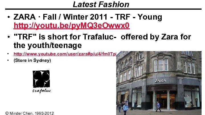 Latest Fashion • ZARA · Fall / Winter 2011 - TRF - Young http: