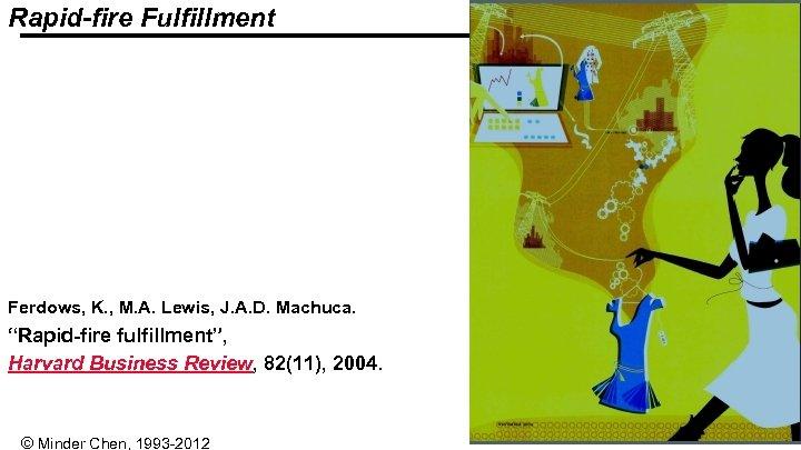 "Rapid-fire Fulfillment Ferdows, K. , M. A. Lewis, J. A. D. Machuca. ""Rapid-fire fulfillment"","