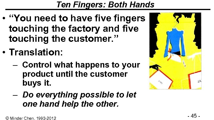 """Ten Fingers: Both Hands • """"You need to have fingers touching the factory and"""