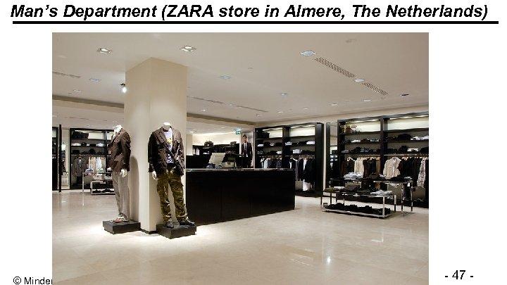 Man's Department (ZARA store in Almere, The Netherlands) © Minder Chen, 1993 -2012 -