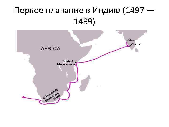 Первое плавание в Индию (1497 — 1499)