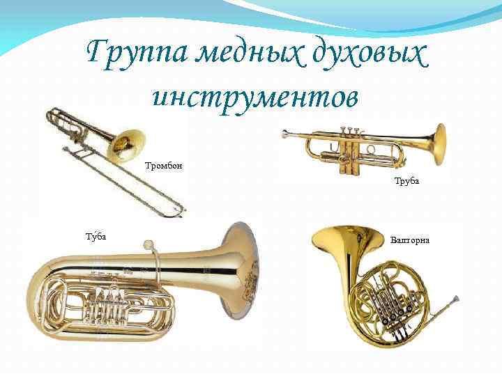 Картинки и название духовых инструментов