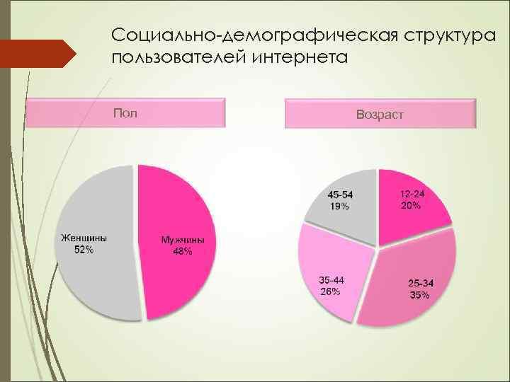 Социально-демографическая структура пользователей интернета Пол Возраст