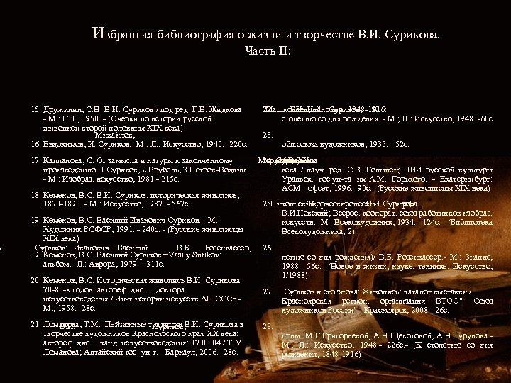 К избранная библиография о жизни и творчестве В. И. Сурикова. Часть II: 15. Дружинин,