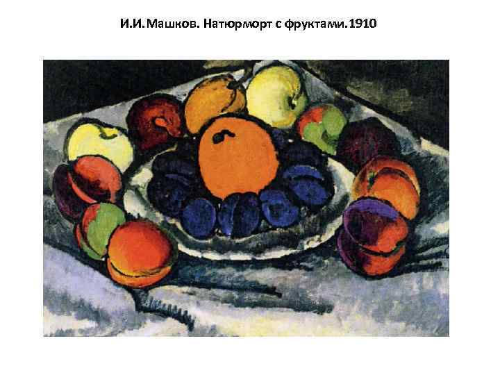И. И. Машков. Натюрморт с фруктами. 1910