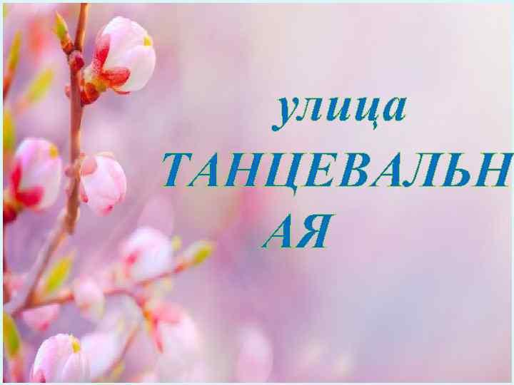улица ТАНЦЕВАЛЬН АЯ